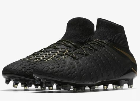 football  soccer  futbol  nikefootball Nike Hypervenom III Elite Dynamic  Fit FG Game Of Gold - Black   Metallic Vivid Gold 2f27de06d90aa