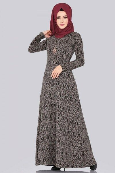 Modaselvim Elbise Kislik Tesettur Elbise 5060mp186 Desen1 African Fashion Dresses Fashion Clothes For Women