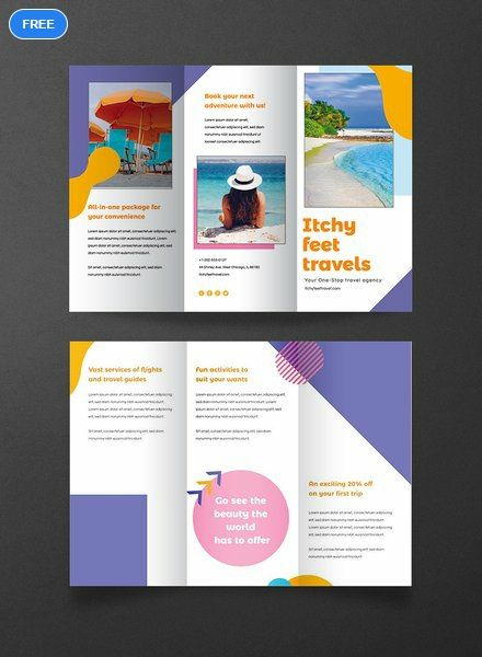 Free Holiday Travel Brochure Template Word Doc Psd Apple Mac Pages Illustrator Publisher Free Brochure Template Travel Brochure Template Brochure Design Template