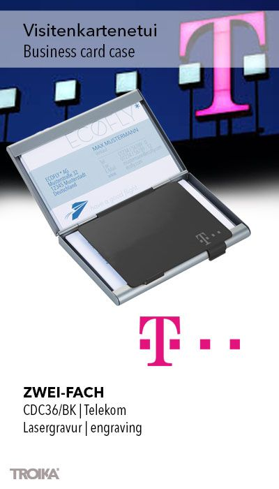 Troika Zwei Fach Telekom Engraving Business Card Case