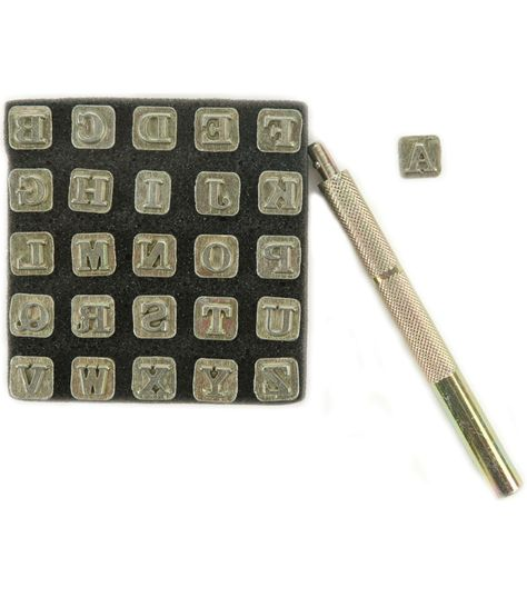 3//8-Inch Fancy Alphabet Leather Factory Easy to Do Series Stamp Set