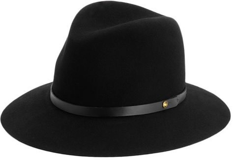98345f2a4e7354 So obsessed with hats right now. Rag and Bone Floppy Brim Fedora - Black on  shopstyle.com