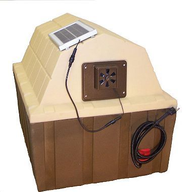 Asl Solutions Dog House Solar Powered Exhaust Fan Choose Your Size Insulated Dog House Dog House Heater Dog House Diy