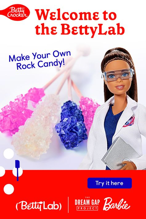 Learn how to make Rock Candy in the Betty Crocker BettyLab. We bring science into the kitchen to show how fun and delicious STEM and beyond can be. Click the link to try this and other kid-friendly experiments.