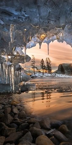 Icecles at Banff National Park in Alberta Canada photo: Robert Beideman on Orenco Photography Club by Gloria Cote