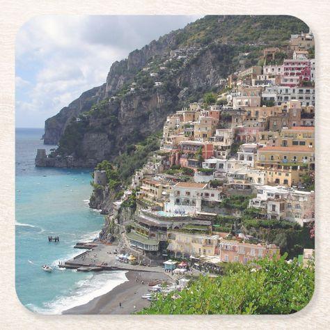 Positano village at the Amalfi coast coaster