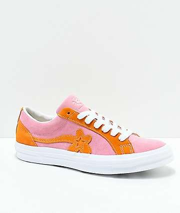 Pila de vía interrumpir  Converse x Golf Wang One Star Le Fleur Pink & Orange Peel Skate Shoes |  Shoes, Trending shoes, Casual shoes women