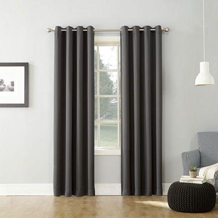Sun Zero Saxon Grommet Top Blackout Curtain Panel Blackout Curtains Panel Curtains Cool Curtains