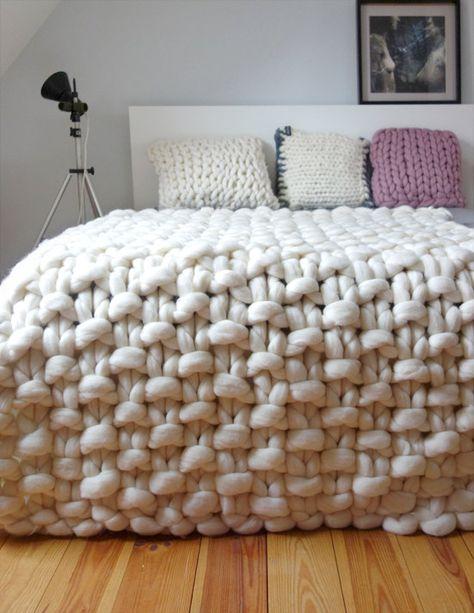 Chunky knit throw, chunky wool blanket, giant knit blanket, Chunky throw merino…