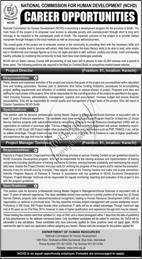 Project Director  Project Manager Technical Jobs in National