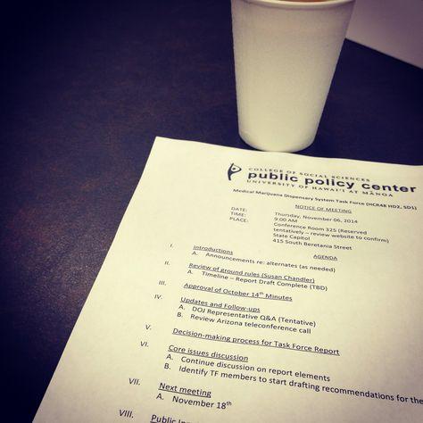Agenda MMJ advocacy Pinterest - draft meeting agenda