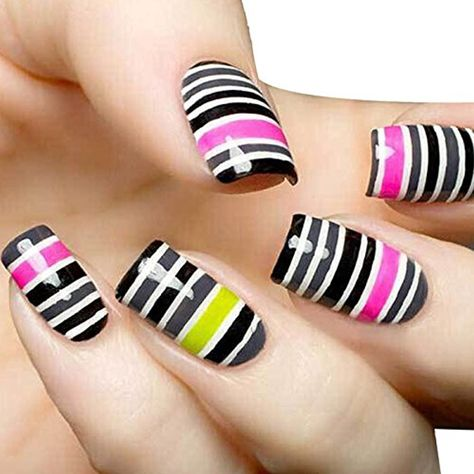Susenstone 32pcs Mixed Colors Rolls Striping Tape Line Nail Art Tips