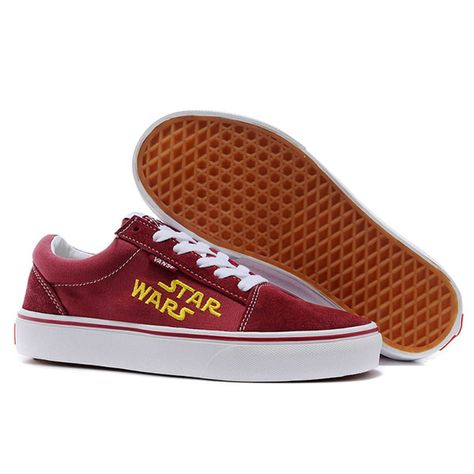 fcf3601423 Vans Shoes Burgundy Star Wars Old Skool Shoes Unisex Classic Canvas ...