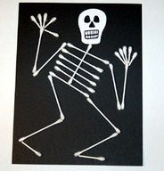 Q-Tip skeleton! We made these in the arts and crafts club after ...