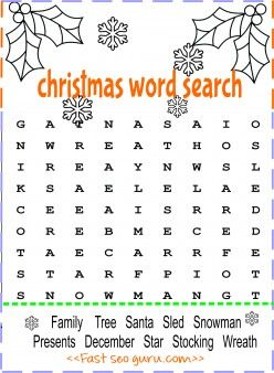 Print Out Christmas Word Search For Preschool Printable Coloring Pages For Kids Christmas Word Search Christmas Words Christmas Coloring Printables
