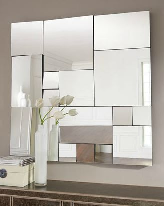 Fragmenting The Reflection Interiors House And Living Rooms. Modern Mirrors  ...