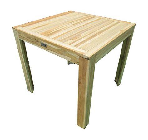 RABATTAKTION Teaktisch Esstisch Holztisch Teak Tisch 80 X 80 X 75 Cm Massiv  Und Stabil