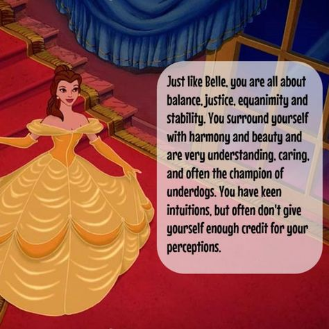 Which Disney Princess Are You Based On Your Zodiac Sign? | PlayBuzz libra is belle