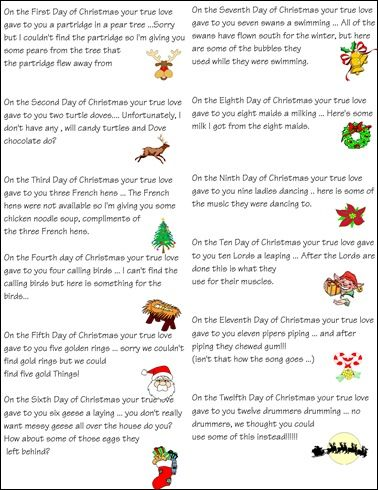 12 Days Of Christmas List.12 Days Of Christmas Idea 12 Days Of Christmas 12 Days