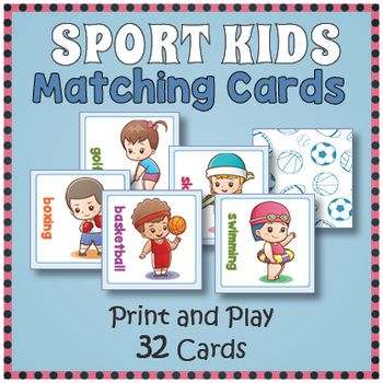 Sports Matching Card Memory Game With Images Fun Games For