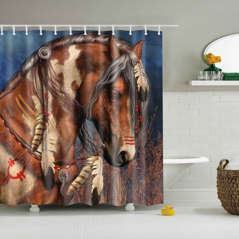 Horse Shower Curtain Indian Horse Shower Curtain Decor