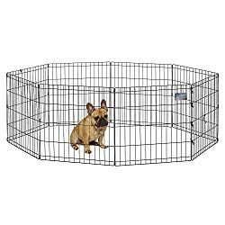 New Puppy Essentials Midwest Foldable Metal Exercise Pen Pet Playpen 24 W X 24 H Puppies Puppylovers Puppystuff A With Images Pet Playpens Dog Playpen Puppy Playpen
