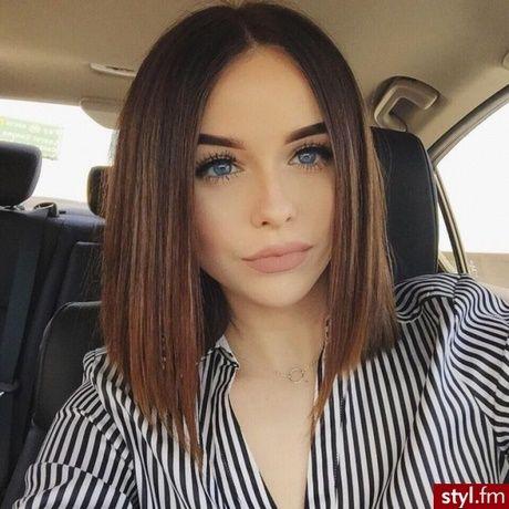 Włosy Proste Fryzury I W 2019 Fryzury Bob Fryzury I