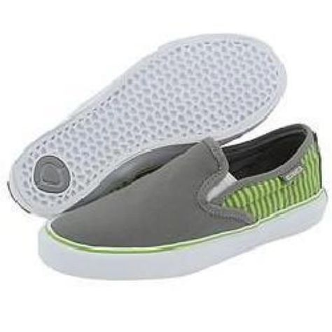 a54bf48cf8 New Womens Circa Lopez 50 Slips Skate Shoes 10 Charcoal Green Slip On  Sneakers