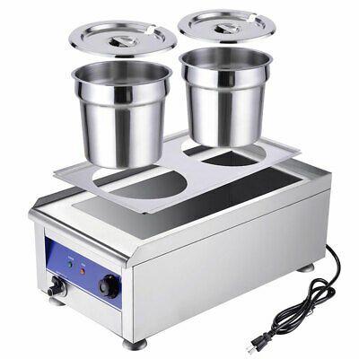 Details About Dual 7l Pots Commercial Food Warmer Countertop Soup