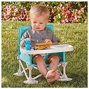 Hiccapop Omniboost Travel Booster Seat With Tray For Baby Folding Portable High Chair For Eating Portable Baby Chair Baby Booster Seat Toddler Booster Seat