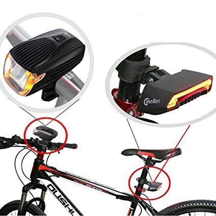 Meilan Bike Light Kit Front And Black Smart Lights For Bike