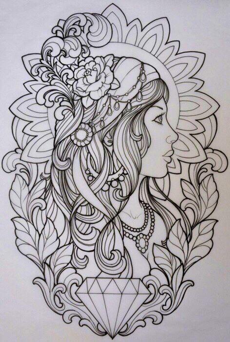 Dimonds Tattoo : Gypsy Sketch - Buy Me Diamond