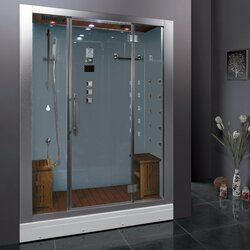 Platinum 59 X 87 4 Rectangle Hinged Steam Shower With Base