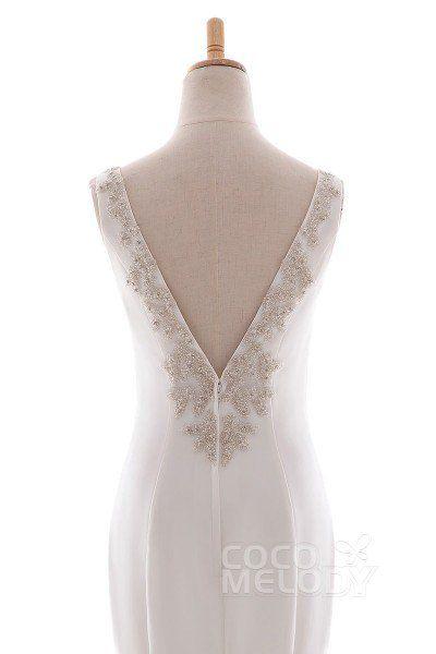 b1b307548 Mermaid Court Train Knitted Fabric Wedding Dress LD5237 | Vow renewal