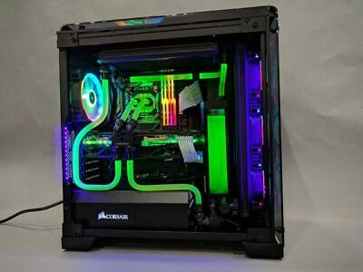 Details About Custom Hardline Liquid Cooled Gaming Pc Intel I9