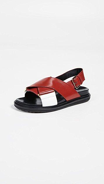 Marni Fussbett Sandals Stylish Sandals Womens Fashion Shoes Boogie Shoes