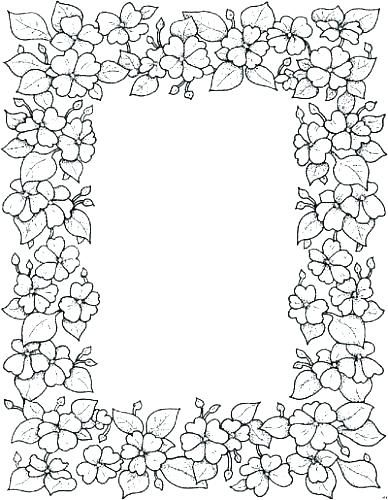 Coloring Page Border At Getcolorings Com Free Printable Colorings Floral Pages Coloring Pages Embroidery Patterns Printable Coloring
