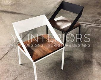 Handcrafted Wood And Metal Frame Dining Chair Model Name Walker