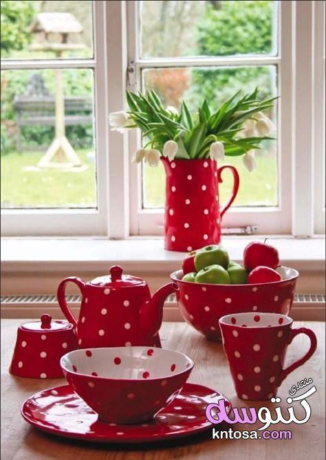 احدث أواني مطبخ باللون الأحمر مستلزمات مطبخ باللون الاحمر مطابخ باللون الاحمر روعه ديكورات مودرن Christmas Dinnerware Sets Christmas Dinnerware Dinnerware Sets
