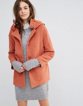 Sisley Hooded Button Up Coat  7e2103f47
