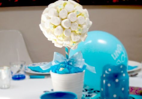 Baby showers on pinterest pink baby showers baby shower for Mesa de comer