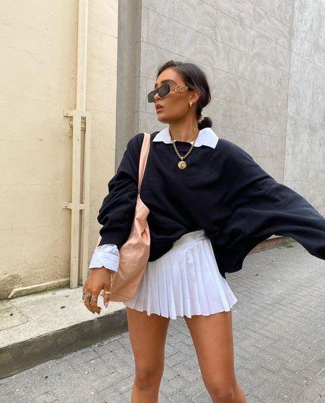 Women White Skirts Tenny Skirt A-line High Waist Mini Tennis Skort Ruffle Casual Skirt Womens Summer Overall Skirt Mujer Faldas