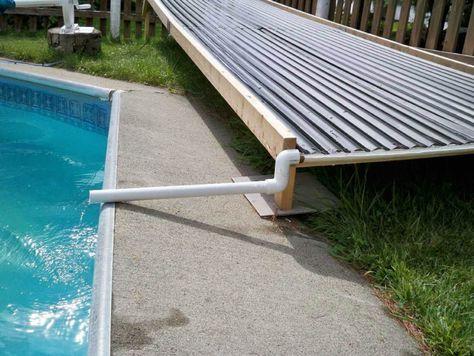 A Unique Open Flow DIY Solar Pool Heating Collector Hot Tub Pool - sonnenkollektor pool selber bauen