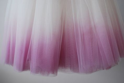 Blushing Ballerina hand dyed ombre tulle by WardrobeByDulcinea