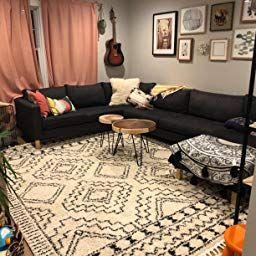 Amazon Com Customer Reviews Nuloom Vasiliki Moroccan Shag Rug 6 7 X 9 Off White Basement Guest Rooms Moroccan Shag Rug Nuloom