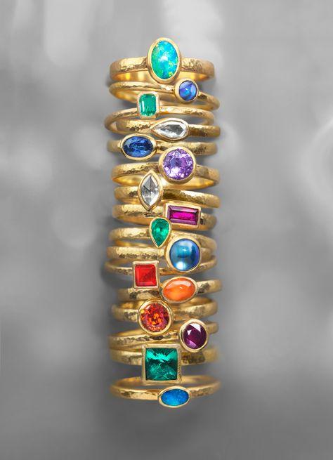 GURHANOoaks Rings - 24KGold, various precious stones