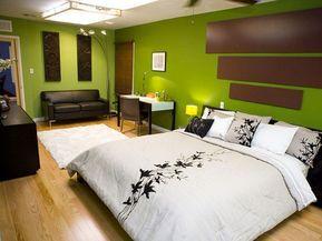 Colore Parete Camera Da Letto Verde : Idee per colori di pareti per la camera da letto green bedrooms