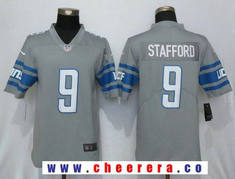 Top Men's Detroit Lions #9 Matthew Stafford Grey Stitched Nike NFL Gridiron Gray Limited Jersey  supplier