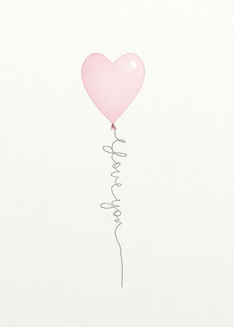 Love the general idea of the tattoo, but not a heart shape balloon and not that quote.