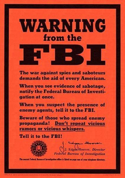 """20x28 /""""The Enemy is Listening Keep It To Yourself/"""" WWII Espionage Poster"""